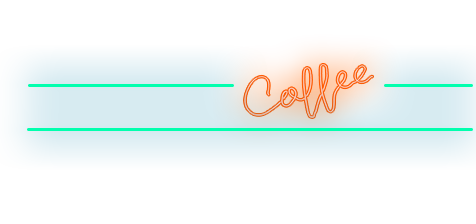Hoboken Bagels neon Coffee